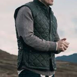 Barbour Jackets & Coats - Sam Heughan Barbour Quilted Vest in Forest